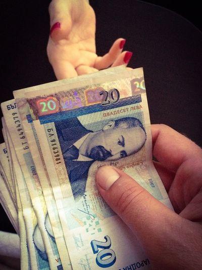 Money Money Bulgarian Money Lev Bills Hand Hands Deal Corruption