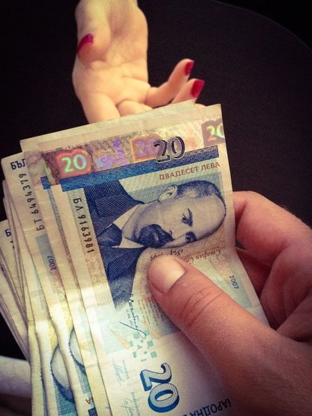 Money Money Bulgarian Money Lev Bills Hand Hands Deal Corruption