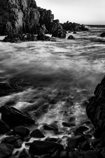 Cape Woolamai Water Rock Sea Rock - Object Solid Beauty In Nature Motion Scenics - Nature Land Nature No People Beach Long Exposure Sport Tranquility Sky Wave Blurred Motion Aquatic Sport Outdoors Flowing Flowing Water Power In Nature Blackandwhite