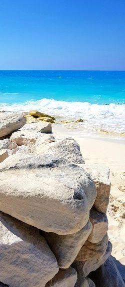 North coast, Alexandria, Egypt Wave Water Sea Beach Sand Summer Clear Sky Sunlight Sky Horizon Over Water EyeEmNewHere