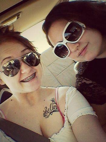 me & my lovely twin!!! ♥ Having Fun Twins Roadtrip Bestfriends <3