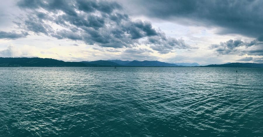 Germany Lindau Bodensee Scenics Beauty In Nature Tranquility Mountain Tranquil Scene Nature Sky Rippled Cloud - Sky No People Water Sea Outdoors Landscape Day