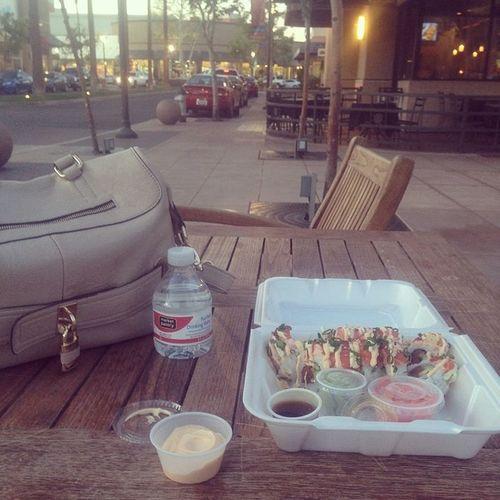 Lunch breaks. Riverpark Sushi Yoshinos Godzillaroll