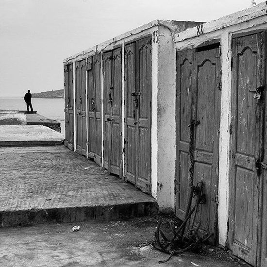 anchored Monochrome Morocco Bnw Bw doors blackandwhite grayscale streetphotography essaouiratrips essaouira blackandwhite photography