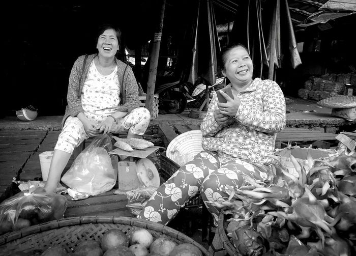 Blackandwhite Blackandwhite Portrait Real People Women Females Sitting Casual Clothing Lifestyles Front View Two People Sitting Smiling Happiness Togetherness Portrait Emotion Moments Of Happiness 2018 In One Photograph My Best Photo International Women's Day 2019 Exploring Fun The Photojournalist - 2019 EyeEm Awards