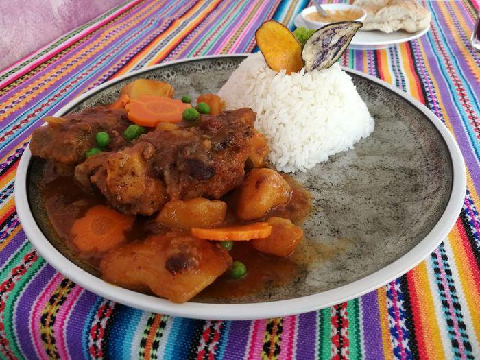 Almuerzo Estofado Meat Lamb - Meat Casserole Close-up Food And Drink