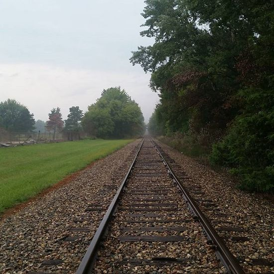 Walks home from work✌☁ Long Walks Train Tracks Chill Vibes Nature_collection Nature On Your Doorstep Nature Photography Treescollection TreePorn Pure Michigan The Purist (no Edit, No Filter)
