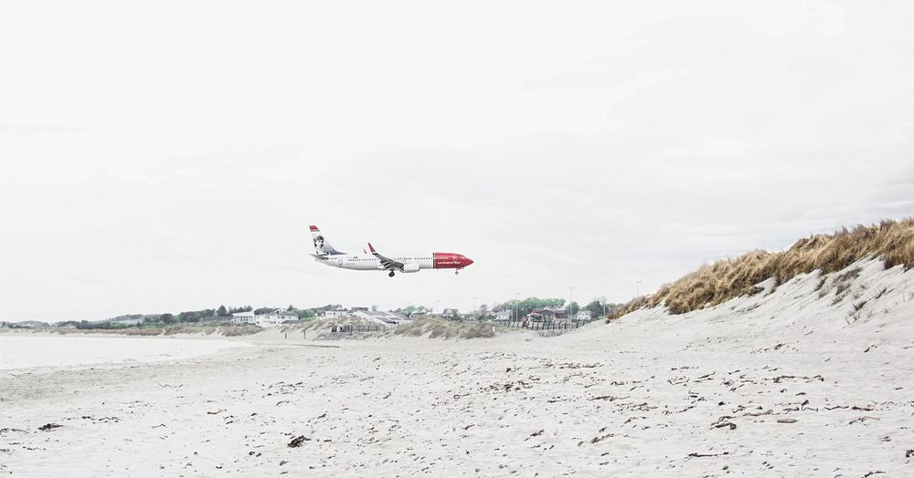 Capture The Moment - GOOD LUCK A!RLINES - Norway Airplane Beach EyeEm Taking Photos Hanging Out Check This Out OpenEdit N \ VEA ★ CREME Photography In Motion