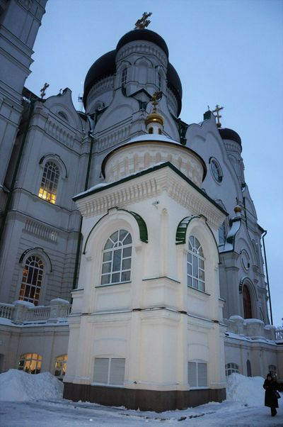 Russian Old Temples... City Snow
