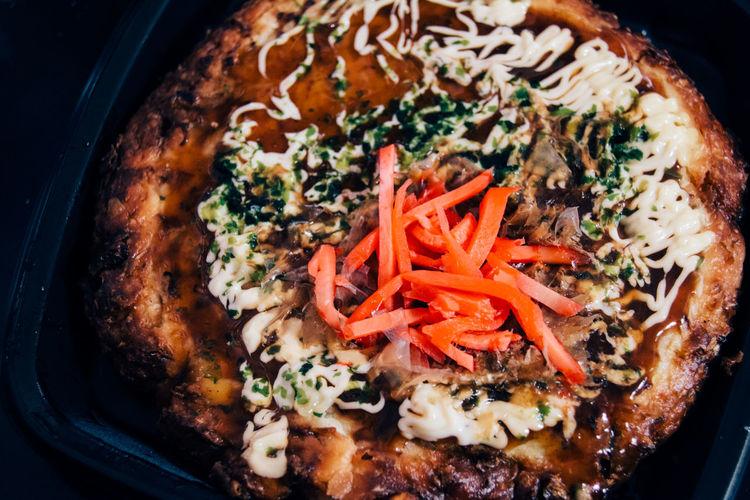 Close-Up Of Okonomiyaki