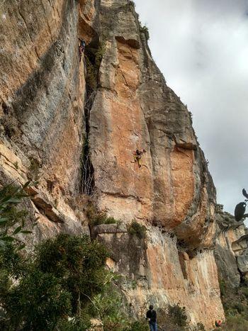 Rock Limestone Climbing Rope Belay