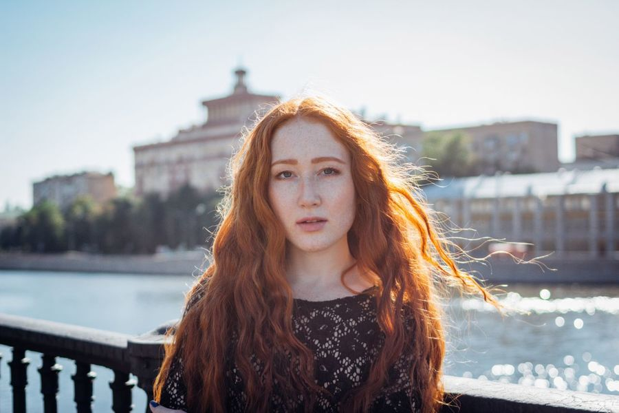 Redhead One Person Young Adult Real People Front View Portrait Leisure Activity Young Women Outdoors Built Structure Architecture Long Hair Beautiful Woman Looking At Camera Focus On Foreground River Casual Clothing Day Lifestyles Building Exterior Moscow Karpetsphoto EyeEm Best Shots The Week On EyeEm EyeEm
