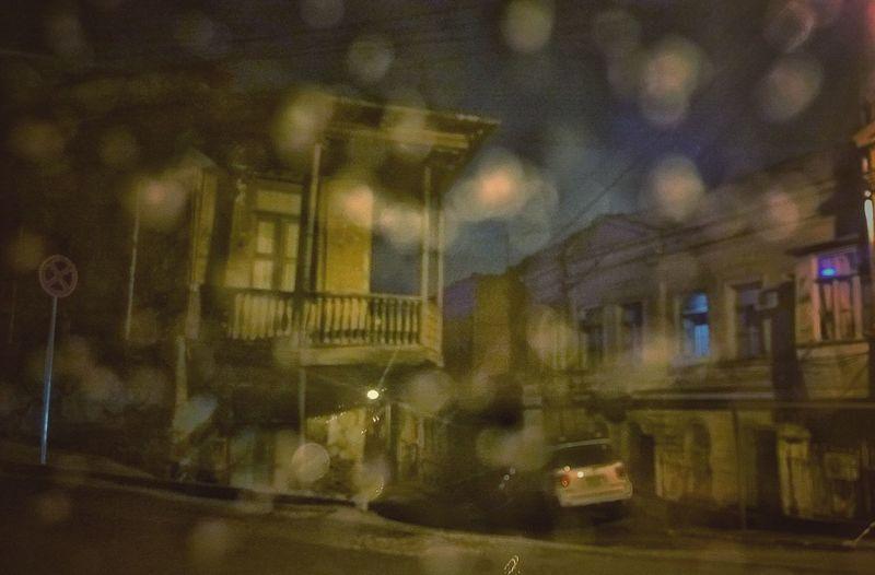 tbilisi winter #oldbuildings Tbilisistyle Tbilisi Loves You Eurasia Street Evening Woodenbalcony Oldbalcony Postsoviet Night Illuminated No People Window Architecture Built Structure Building Exterior