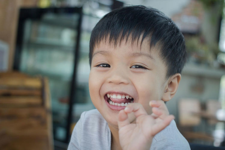 Portrait of cute happy boy