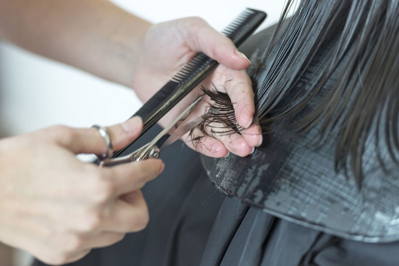 Hairdresser Hair Close-up Comb Combing Customer  Cutting Cutting Hair Hair Care Hair Salon Hair Style Haircut Hairdresser Hairstyle Hand Holding Human Body Part Human Hair Human Hand Indoors  Occupation Scissors Selective Focus Small Business Two People Working