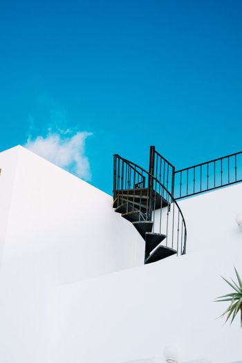 Railing Steps And Staircases Staircase Business Finance And Industry Outdoors Cold Temperature Day Snow No People Architecture Sky