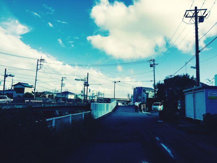 河原 小田原 夏の終わり 2015  Endofsummer Odawara 空 Sky