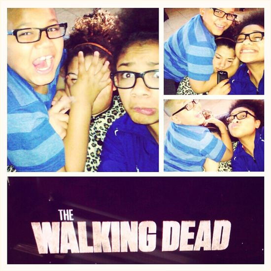 this basically sums up my three day weekend. #TheWalkingDead and my babies <3 :*