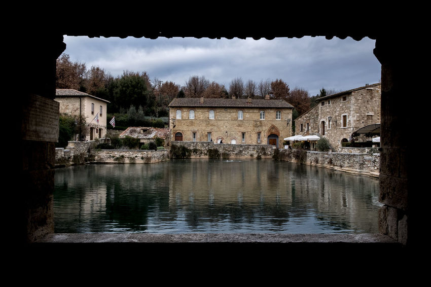 Animal Themes Architecture Bagnovignoni Building Exterior Built Structure Cloud - Sky Day Italia Italy Landscape Nature No People Outdoors Sky Terme Toscana Travel Destinations Tree Val D'orcia Water