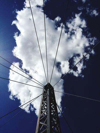 Sky Blue Cloud Tower
