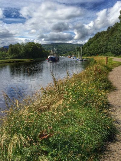 Boats Canal Waterway Clouds And Sky Caledonian Canal Inverness Scotland Eye4photography  Hello World IPhone