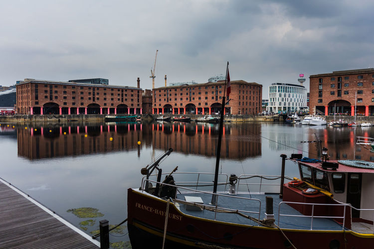 The Albert Dock Architecture Building Building Exterior Built Structure City Cloud - Sky Day Mode Of Transportation Moored Nature Nautical Vessel No People Outdoors Reflection Sailboat Sky Transportation Travel Water Waterfront Wooden Post