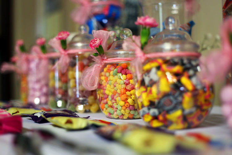 Wedding Reception Choice Close-up Container Eating Utensil Food Food And Drink Freshness Glass - Material Healthy Eating Indoors  Jar Kitchen Utensil No People Selective Focus Still Life Sweet Sweet Food Sweets Table Temptation Transparent Variation