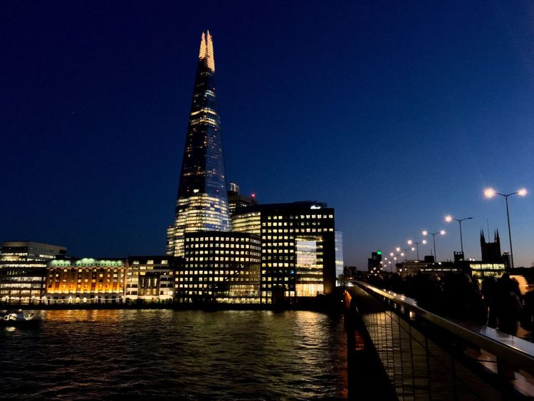 I❤️London Architecture Built Structure Building Exterior Illuminated Tall - High Skyscraper Modern Tower City Night Clear Sky No People Urban Skyline Travel City Life