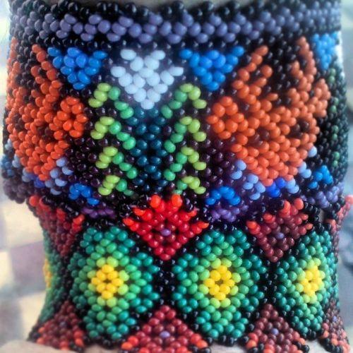 Puravida Venado Maiz Peyote Color Artesania Huichol Pulseras <3