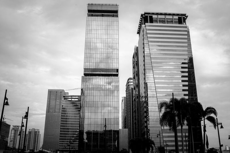 Skyscrapers at 30th St, Bonficio Global City Philippines. Architectural Feature Architecture Black And White Building Building Exterior Built Structure City Life City Scene Cityscape Development Monochrome Office Building Outdoors Skyscraper Tall - High Tower Travel Destinations