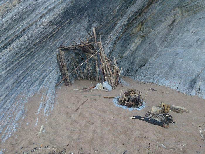Beach hut and