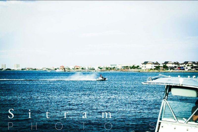Pensacola Beach Home Beach Jet Skis Out In The Ocean Check This Out Taking Photos Florida Life Hello World Sitram Photo's