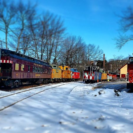 Just..playing. Older photo. Tilton NH, repost with different effects. Tiltshift Trainyard Trains Saruration winter2015