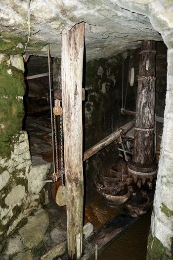 Mill water turbine Ancient Architecture Mill No People Old Old Buildings Stones Stones & Water Turbine Water Wood - Material