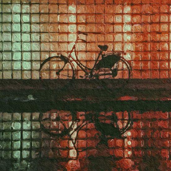 IPSPaint IPhoneography IPhone Popart Kunst Pop Art Reflection Water Reflections Bike Glazeapp Glaze