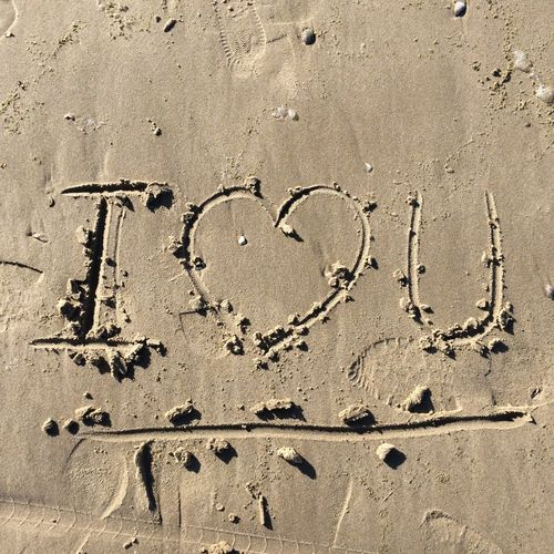 Backgrounds Beachphotography Close-up Detail Iloveyou No People Pattern Textured