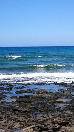 Water Wave Sea Beach Clear Sky Sand Blue Backgrounds Summer Sky Coastline Ocean Rocky Coastline Coast Seashore