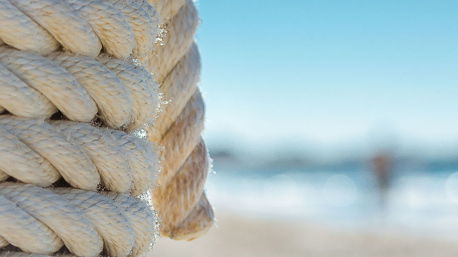 Close-up of stacked rope