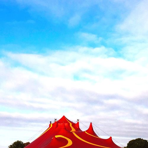 Big top 3 Bigtop Circus Sky Cloud - Sky Nature Building Exterior Day Low Angle View Architecture Built Structure Red