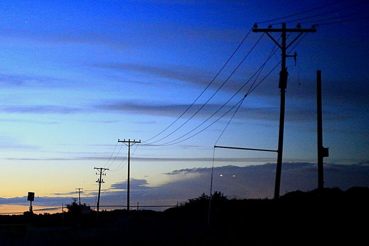The Great Outdoors - 2016 EyeEm Awards Power Lines Taken By M. Leith Full Frame Darkness And Light Pastel Colors Night Approaching Salt Lake City Cities At Night Live For The Story