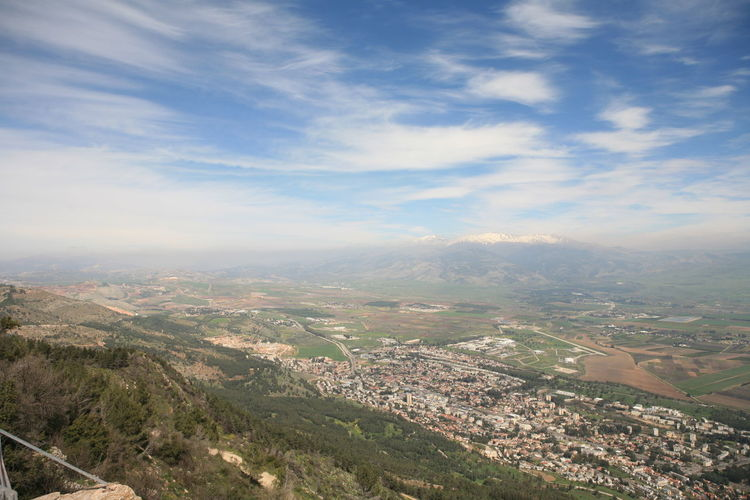 Amazing Landscapes of Israel, Views of the Holy Land Environment Sky Landscape Scenics - Nature Nature Beauty In Nature Mountain Day Cloud - Sky Aerial View Tranquil Scene No People Tranquility City Architecture Building Exterior Outdoors High Angle View Land Built Structure TOWNSCAPE