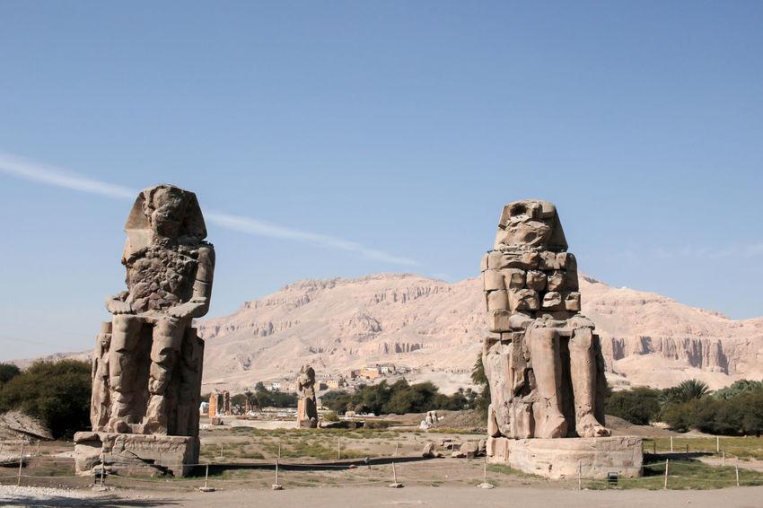 Ancient Civilization History Human Representation King - Royal Person Landscape Outdoors Sculpture Statue Travel Destinations