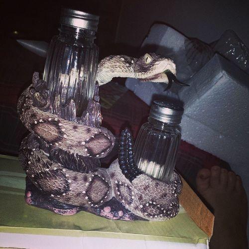 I got a salt and pepper holder for my birthday Rattlesnakejake Rattler FuckingAwesome Awesome tongue