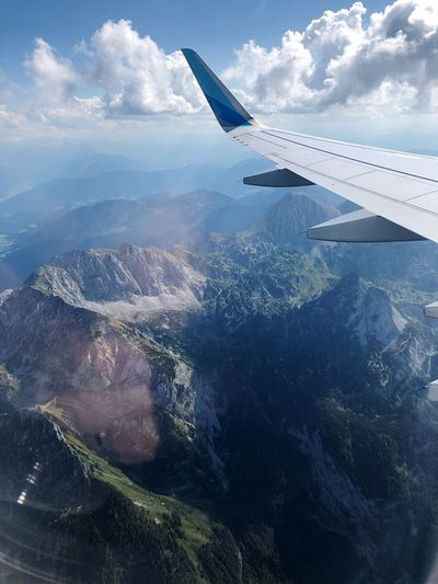 Approach over the alps to Salzburg airport First Eyeem Photo EyeEm Nature Lover EyeEmNewHere Over The Mountains Alps Approaching Airport Airplane Transportation Scenics - Nature Travel Journey Aerial View