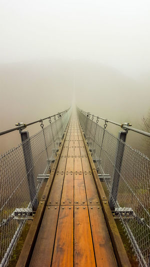 Fear Foggy Mountains New Life Rope Bridge Unknown Wooden Brigde Background Challenge Fog Foggy Footbridge Future Mountain Bridge New Stereo Suspension Bridge Wallpaper Way To Nowhere Weather