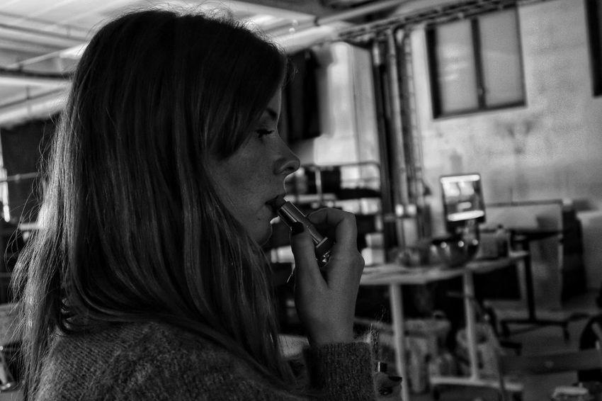 PortraitPhotography Portrait Photography Blackandwhite Raw Shadows RAWphotography EyeEm Best Shots Eye4photography  EyeEm Selects EyeEm Best Shots - Black + White women around the world Women Portraits Embracethemoment Present Technology Women Television Industry Close-up