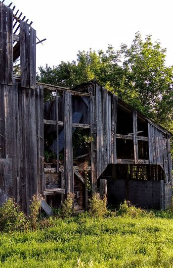 Old Weathered Rustic Barn Outdoors Building Exterior Tree Grass Sky Day No People Pocono Mts. Pa.