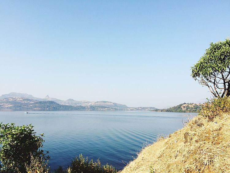 Clear Sky Water Scenics Nature Beauty In Nature Tree Mountain Outdoors Growth Tranquility Day No People Tranquil Scene Sky Lake Lake View Lakeshore Lakeside