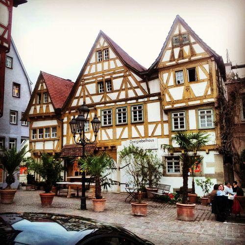 Zum lecker Eis essen nach Besigheim mit schönen Fachwerkhäusern. Einfach nur Relaxing und Taking Photos.