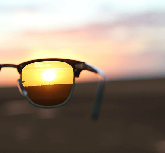 Sunset Sunglasses View Roadtrip